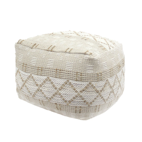Nellie Large Square Casual Pouf