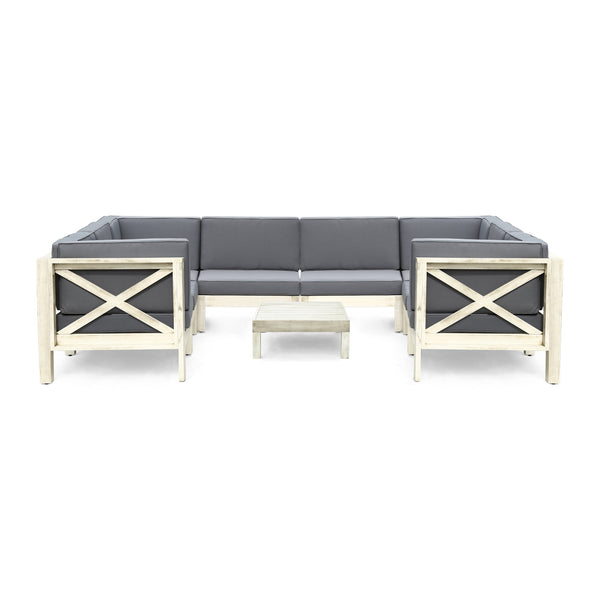 Brannt Outdoor Sectional Sofa Set With Coffee Table