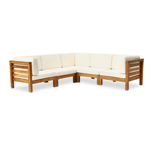 Dale Outdoor V-Shaped Sectional Sofa Set