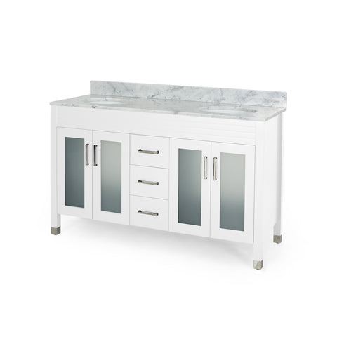 "Hilton Contemporary 60"" Double Sink Bathroom Vanity 