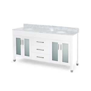 "Hilton Contemporary 72"" Double Sink Bathroom Vanity 