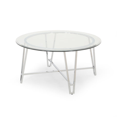 Everton Modern Iron Coffee Table | Color: Gray