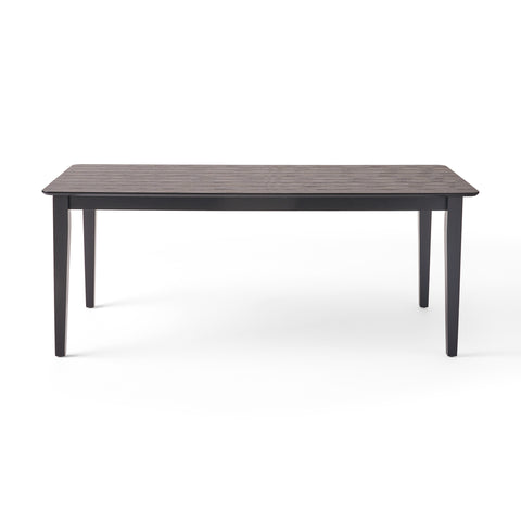 Devon Rectangular 8 Seat Farmhouse Dining Table | Color: Black, Finish: Black