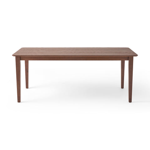 Devon Rectangular 8 Seat Farmhouse Dining Table | Color: Brown, Finish: Walnut
