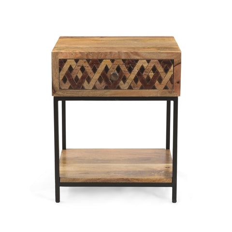 Childress Boho Bedside Table | Color: Brown