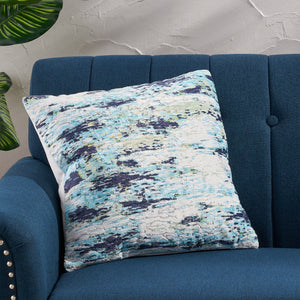 Cimarron Modern Throw Pillow | Color: Blue, Quantity: Single, Single: Color, Color: Teal