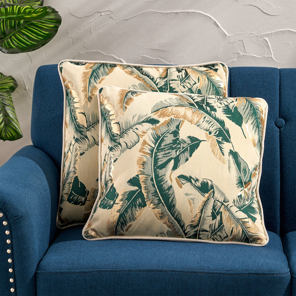 Balfour Modern Throw Pillow | Color: Green, Quantity: Set of 2, Set of 2: Color, Color: Dark Green
