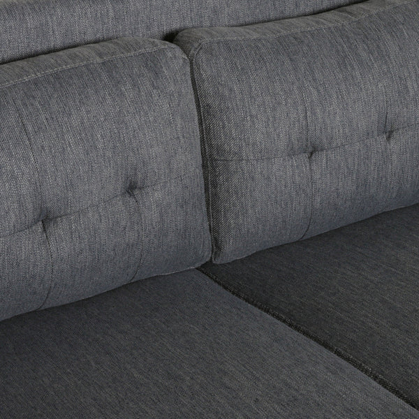 Gresham Contemporary Fabric Loveseat | Color: Gray, Color: Charcoal