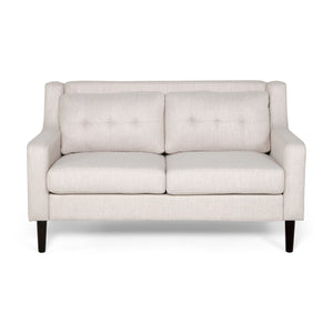 Gresham Contemporary Fabric Loveseat | Color: Natural, Color: Beige