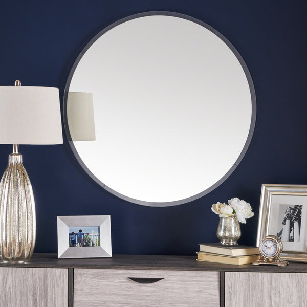 Atherton Circular Wall Mirror With Clear Acrylic Frame