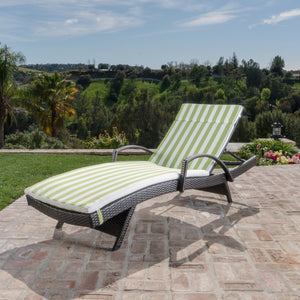 Sagan Outdoor Wicker Lounge With Arms With And Water Resistant Cushion