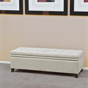817056010316 Sandford Cloth Storage Ottoman Full View in Room