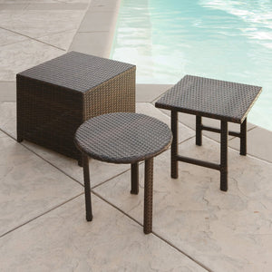 Palm Wicker Table (Set Of 3)