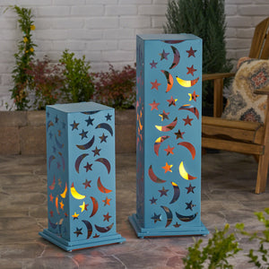 Roland Outdoor Iron Cutout Lantern (Set Of 2)
