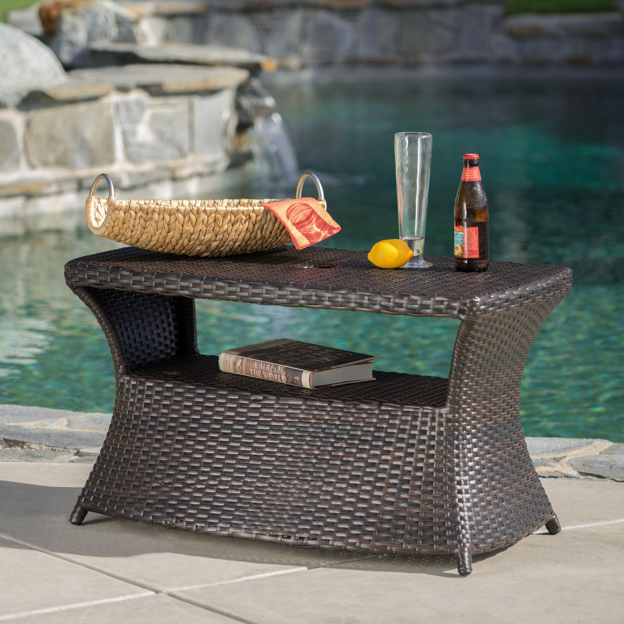 Benson Outdoor Wicker Side Table