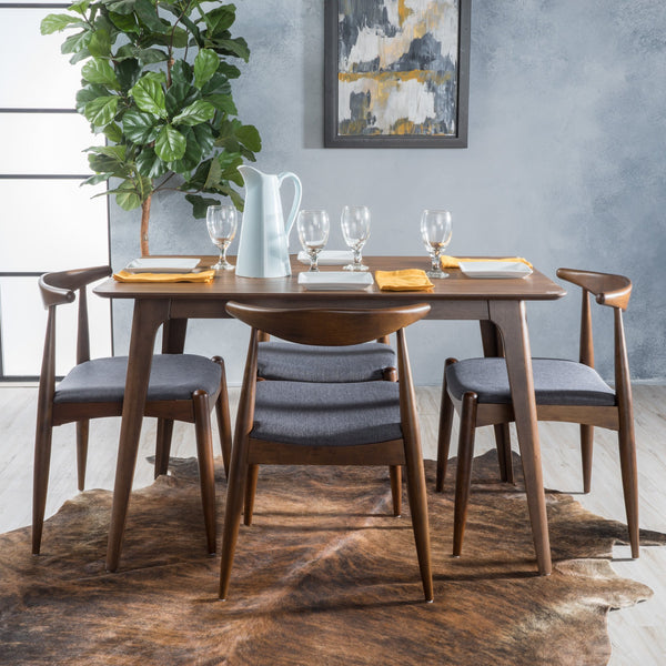 Fort Fabric And Wood Dining Set