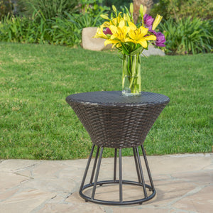 Crema Outdoor Wicker Side Table