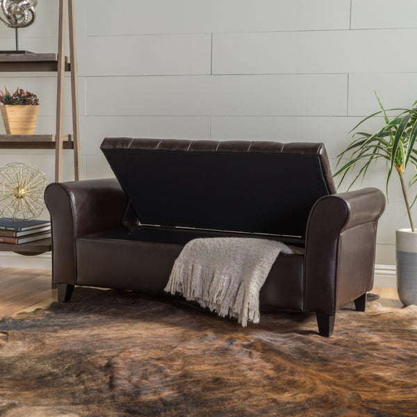 Keane Fabric Armed Storage Bench