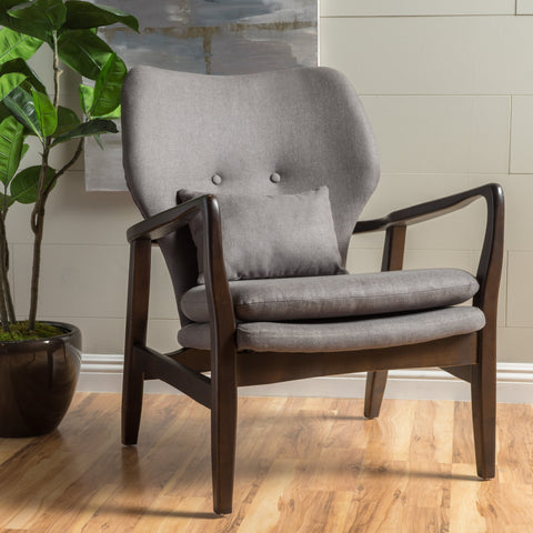Gwendolyn Wood With Fabric Club Chair