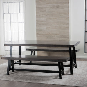 Mari Finished Rubberwood 3 Piece Dining Set