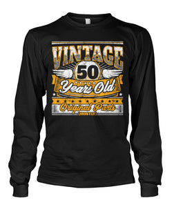 Funny 50Th Birthday Shirt Vintage 50 Years Old Copy Unisex Long Sleeve