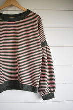 Load image into Gallery viewer, Peyton pillow sleeve top - stripe