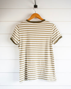 Fawn Top - Olive Stripe