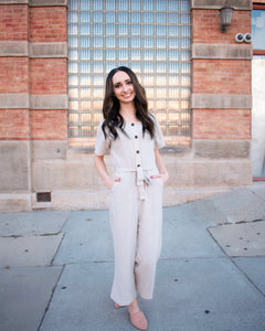 Hayes Jumpsuit - Gray