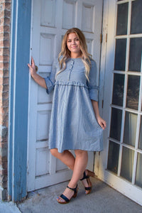 Bailey dress - navy check