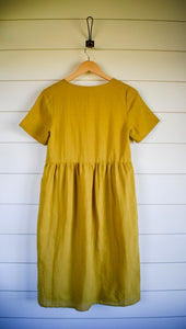 Claire dress - mustard