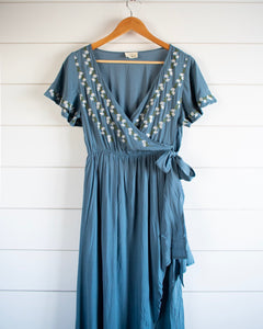 Rosie Dress - Dusty Blue