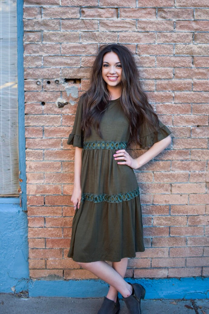 Willow dress - olive