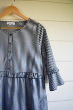 Load image into Gallery viewer, Bailey dress - navy check