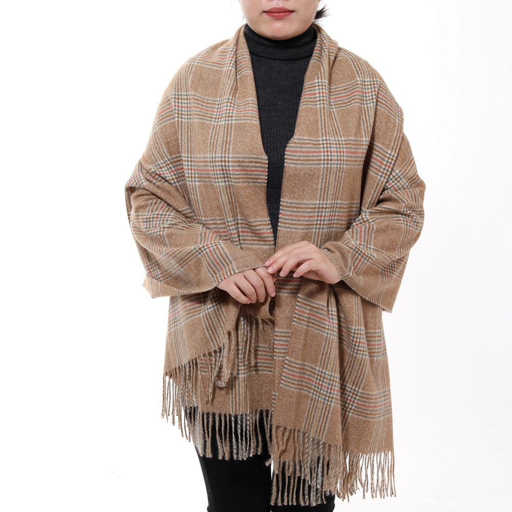 82067c607eae9 ... Plaid Wool Scarf Men - Best Cashmere Arab Knit Winter Scarves Shemah  Stain Scarf