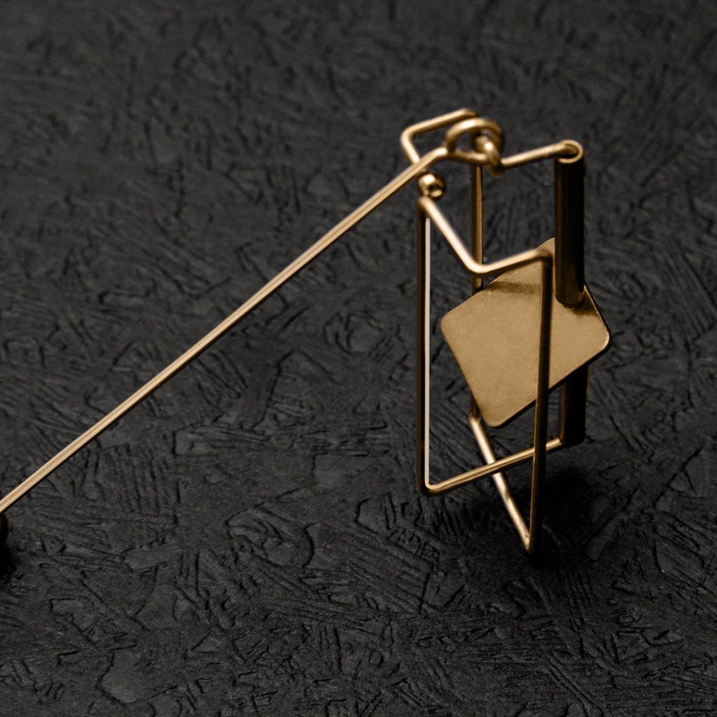 Geo Architectural Drop Earrings - AHED Project