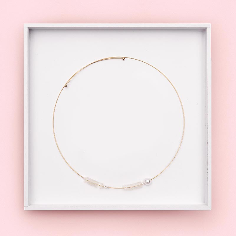 Jolly Memory Wire Necklace (Quick to ship)
