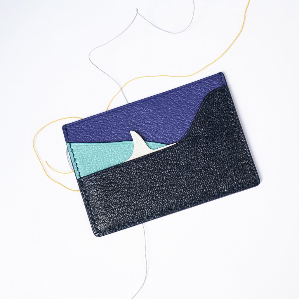 Shark Fin Design Leather Card Case (Quick to ship)