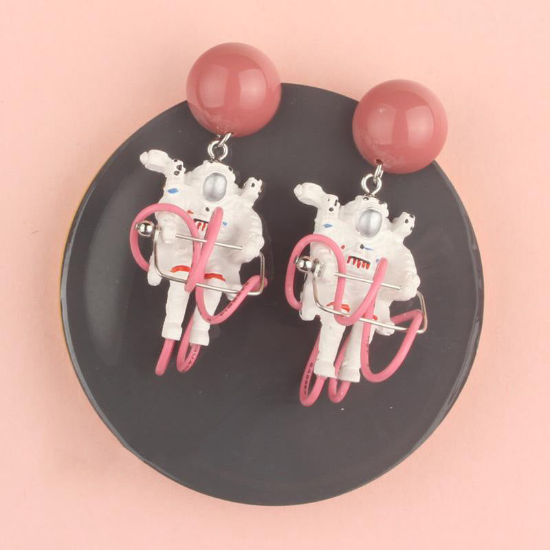 Space Walking Astronauts Stud Earrings