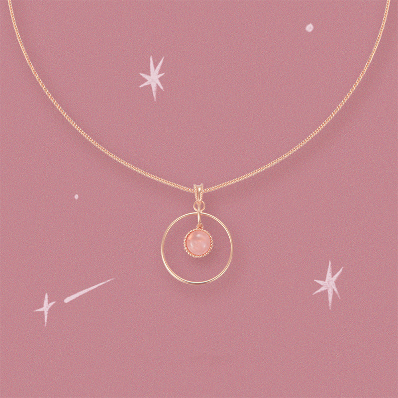 Cosmological Rose Quartz Necklace - AHED Project