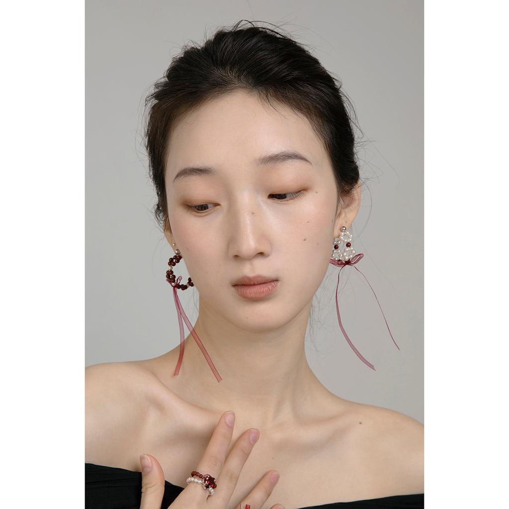 PROMISE Series - Breezy Bow Asymmetrical Hoop Earrings