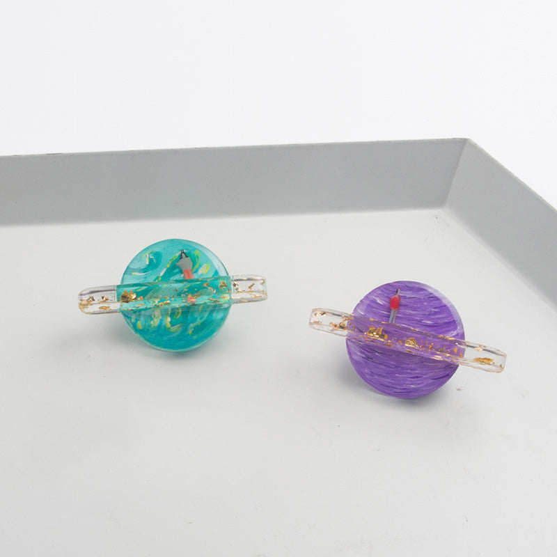 Colorful Planets Stud Earring(Single) - AHED Project