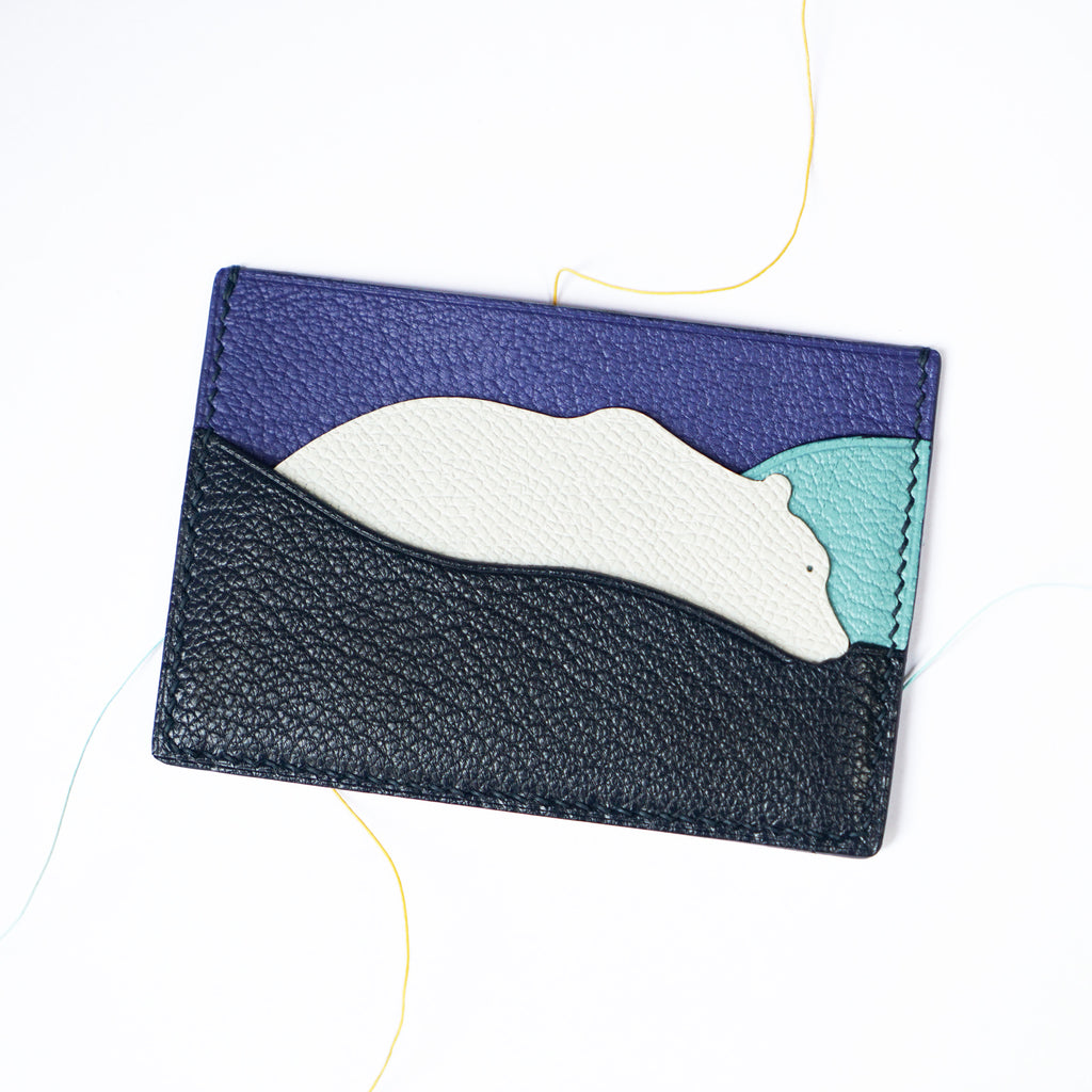 Polar Bear Leather Card Case (Quick to ship)