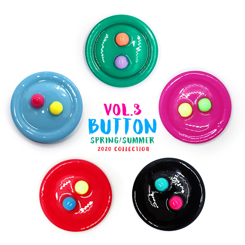 Playful Statement Buttons Stud Earring