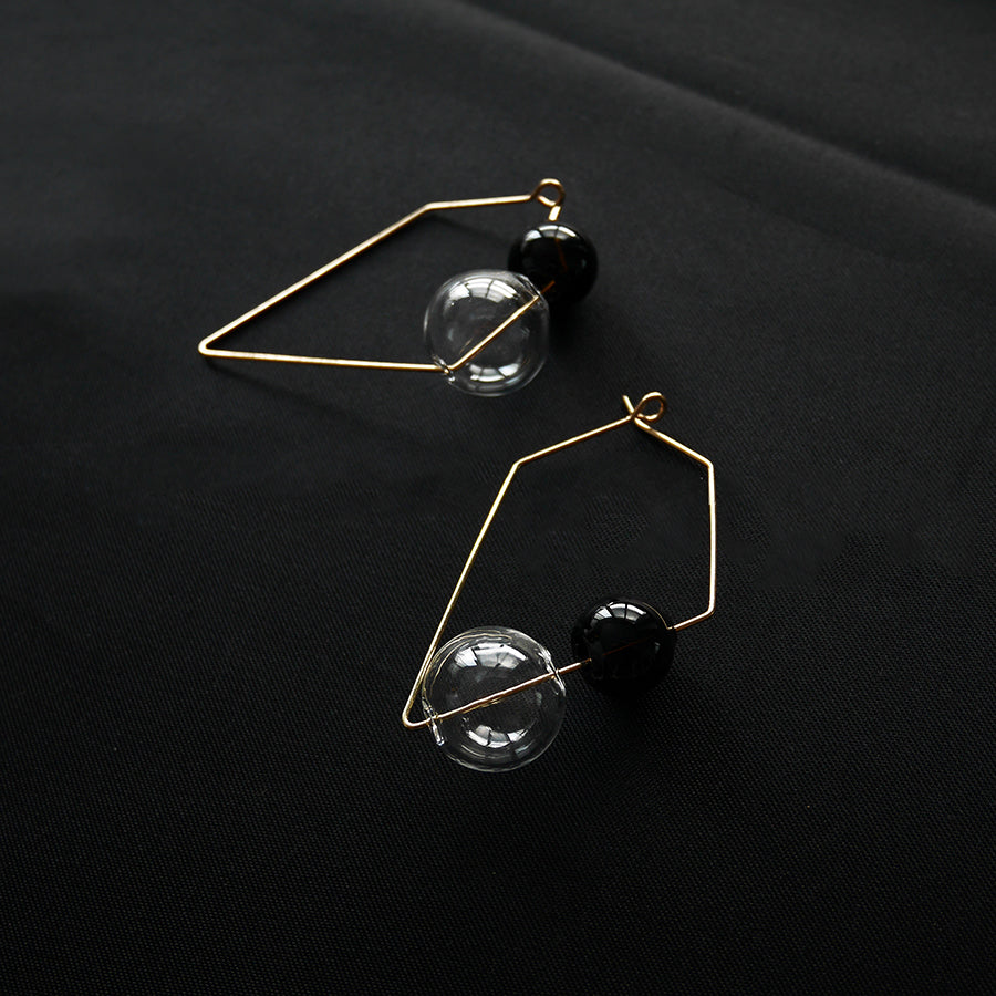 Structural Dual Color Bubble Earrings