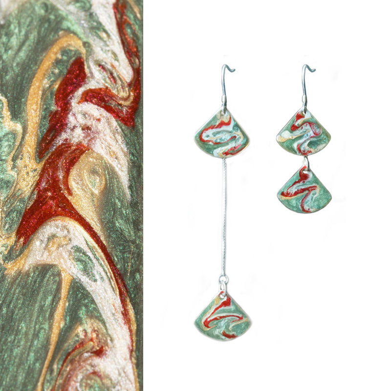 Mogao Cave Murals Inspired Stacked Threader Drop Earring(s)