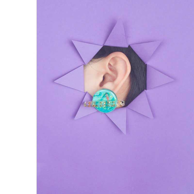 Colorful Planets Stud Earring(Single)