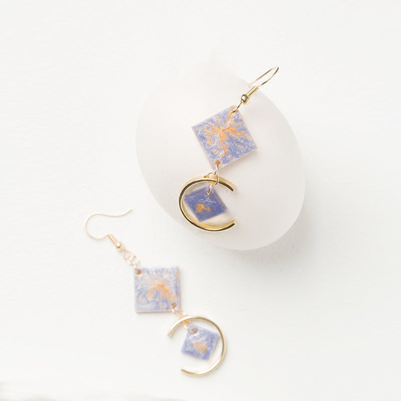 Ginkgo Leaves Autumn Palette Drop Earrings