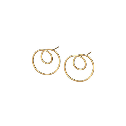 14K Gold Filled Twirl Stud Earrings