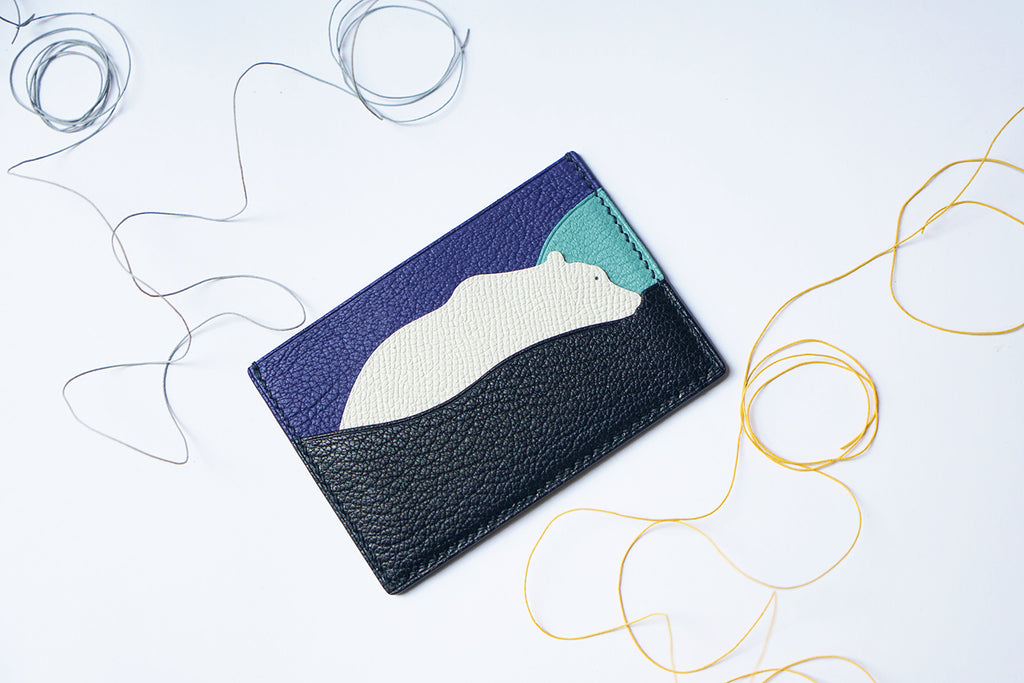 Polar Bear Leather Card Case (Quick to ship) - AHED Project