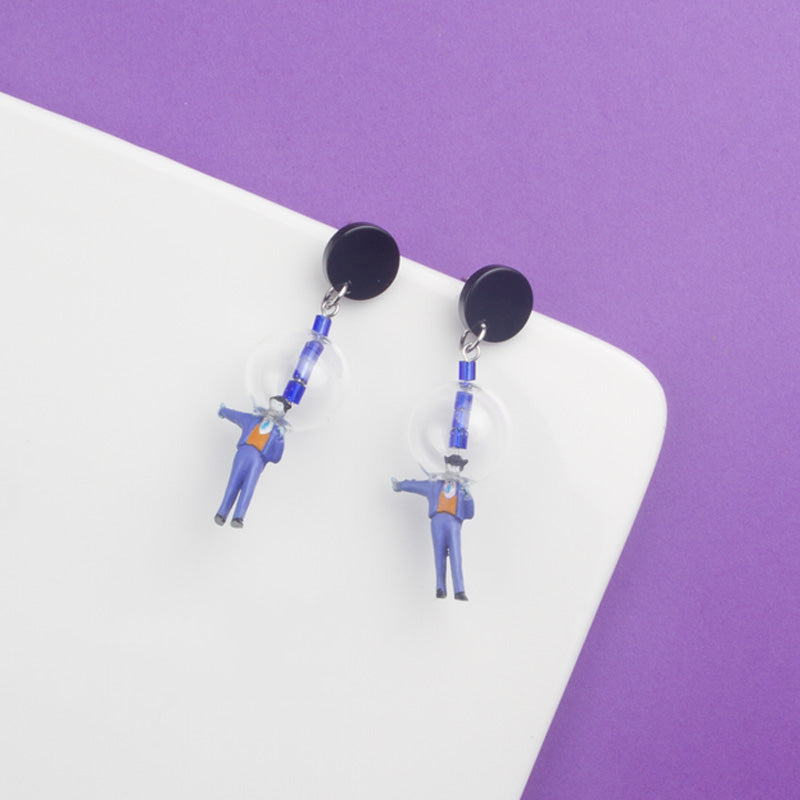 Space Joker Figure Stud Earrings (Quick to ship) - AHED Project